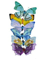 Multicolored Butterflies, Set of 6
