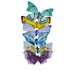 Multicolored Butterflies, Set of 6
