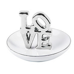 Silver Love Ring Dish