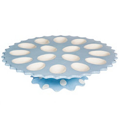 Blue Footed Egg Plate
