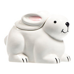 White Bunny Candy Dish with Lid