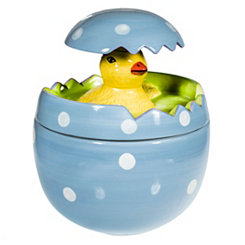 Pop-Up Chick Blue Egg Candy Jar