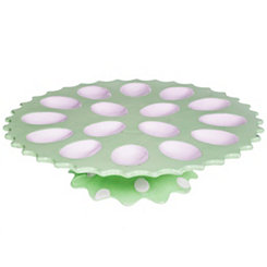 Green Footed Egg Plate