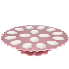 Pink Footed Egg Plate