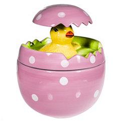 Pop-Up Chick Pink Egg Candy Jar