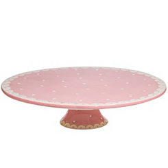 Swiss Pink Dotted Cake Stand