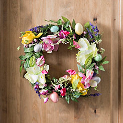 Woven Tulip and Easter Egg Wreath, 20 in.