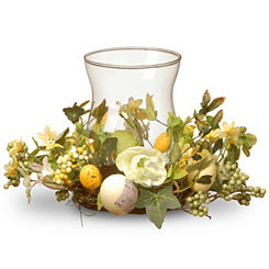 Easter Egg Floral Candle Holder