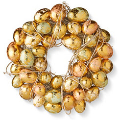 Gold Foil Egg Wreath