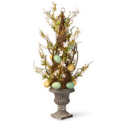 Swirled Branch Tree with Easter Eggs, 27 in.