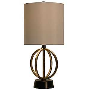 Open Metal Orb Table Lamp