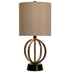 Open Metal Orb Table Lamp
