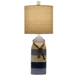 Anna Maria Blue Stripe Table Lamp