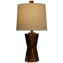 Bronze Hexagon Table Lamp