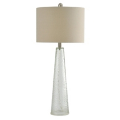 Tapered Clear Glass Table Lamp