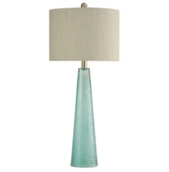 Tapered Blue Glass Table Lamp