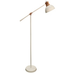 White and Copper Metal Floor Lamp
