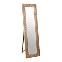 Brown Franklin Studded Dressing Mirror