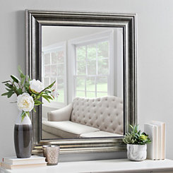 Champagne Pewter Edge Framed Mirror, 30x36 in.