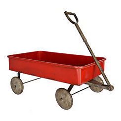 Metal Red Wagon Planter