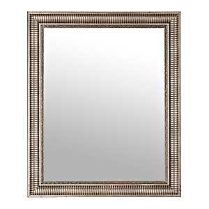 Antique Silver Two Tone Ridge Wall Mirror