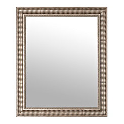 Antique Silver Two Tone Ridge Wall Mirror
