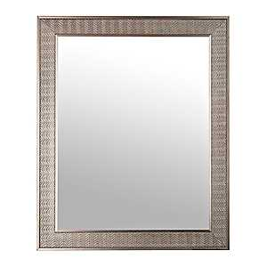 Antique Silver Herringbone Wall Mirror