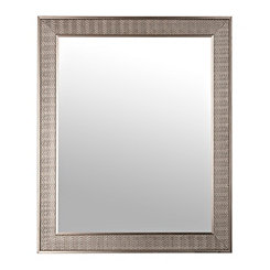Antique Silver Herringbone Wall Mirror