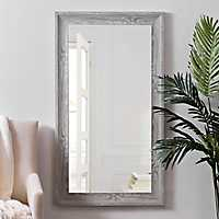 Gray Woodgrain Wall Mirror, 31.5x55.5 in.
