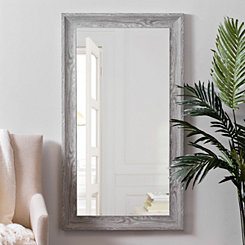 Gray Woodgrain Wall Mirror, 31.5x55.5 in.