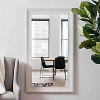 White Woodgrain Wall Mirror, 31.5x55.5 in.