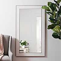 Stone Herringbone Framed Mirror, 31.5x55.5 in.