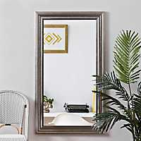 Champagne Pewter Edge Framed Mirror, 31.5x55.5 in.
