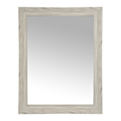 Gray Woodgrain Wall Mirror, 37.5x47.5 in.