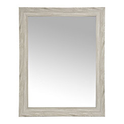 Gray Woodgrain Wall Mirror, 37.5x47.5 in.