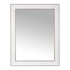 Stone Herringbone Framed Mirror, 37.5x47.5 in.