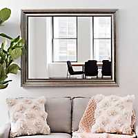Champagne Pewter Edge Framed Mirror, 37.5x47.5 in.