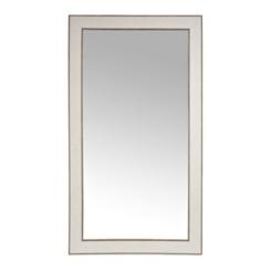 Stone Herringbone Framed Mirror, 37.5x67.5 in.