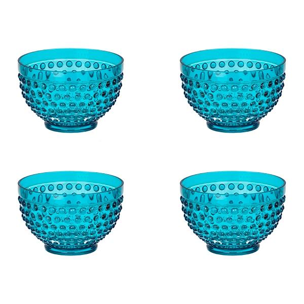 Teal Hobnail Acrylic Bowls Set of 4  sc 1 st  Kirklands & Outdoor Dining | Kirklands