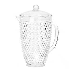 Clear Hobnail Acrylic Pitcher