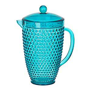 Teal Hobnail Acrylic Pitcher