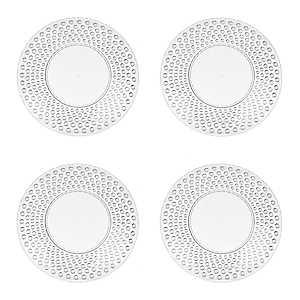 Clear Hobnail Acrylic Salad Plates, Set of 4