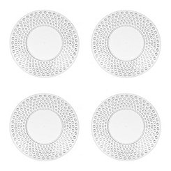 Clear Hobnail Acrylic Salad Plates, Set of 4