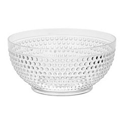 Clear Hobnail Acrylic Serving Bowl