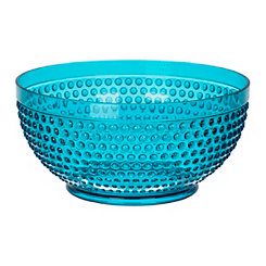 Turquoise Hobnail Acrylic Serving Bowl