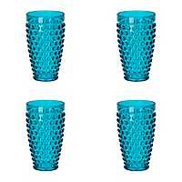 Teal Hobnail Acrylic Tumblers, Set of 4