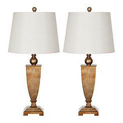 Valer Gold Table Lamps, Set of 2
