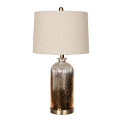 Mocha Smoked Glass Table Lamp