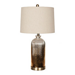 Mocha Smoked Glass Table Lamp