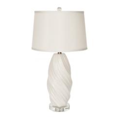 White Ceramic Twist Table Lamp